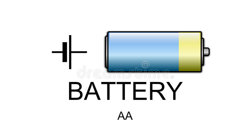 Battery icon and symbol stock illustration. Illustration of cell ...