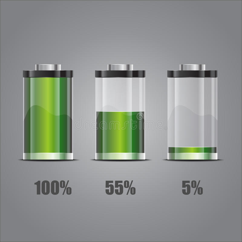 Download Battery stock vector. Image of glossy, green, icon, alkaline - 31350975