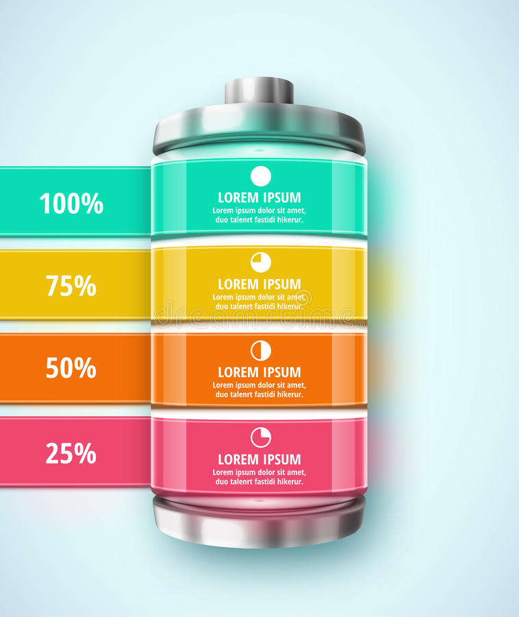 Battery infographic vector illustration