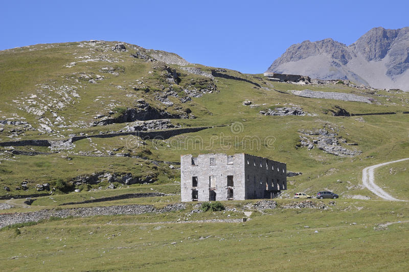 Battery La Court - 1905-1910 - Mont Cenis. France royalty free stock photos