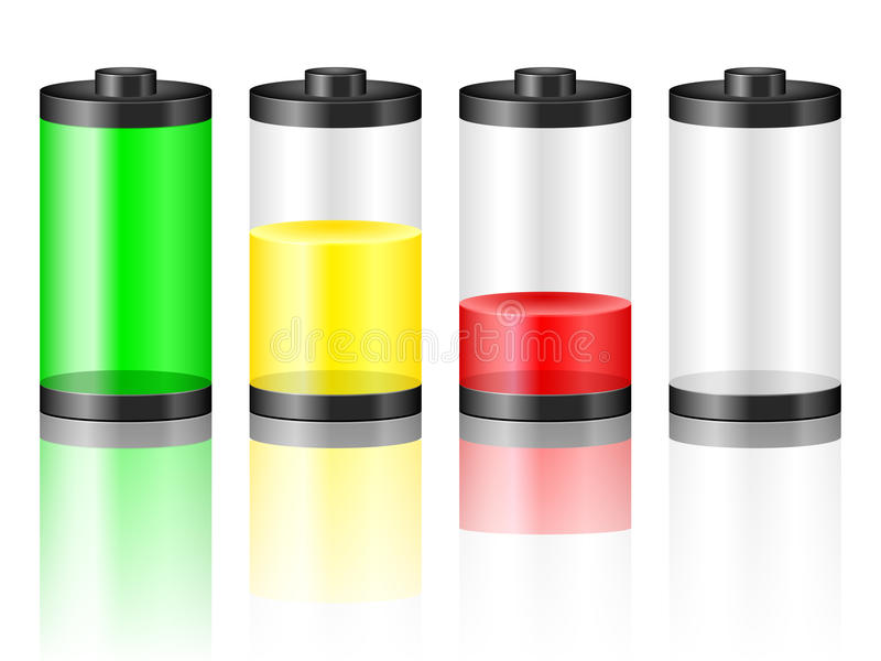 Battery level. Battery with the level of charge. Vector illustration vector illustration