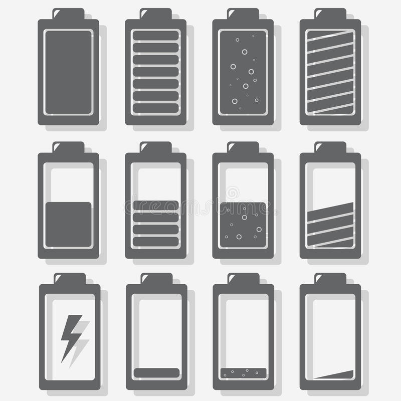 Battery with the level of charge. This is file of EPS10 format royalty free illustration