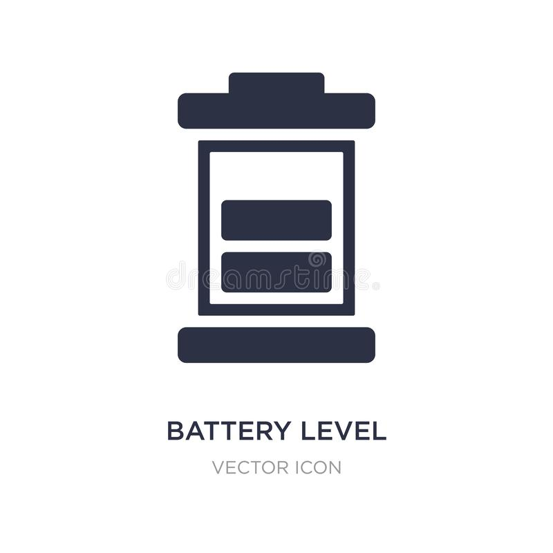 Battery level icon on white background. Simple element illustration from Technology concept. Battery level sign icon symbol design royalty free illustration