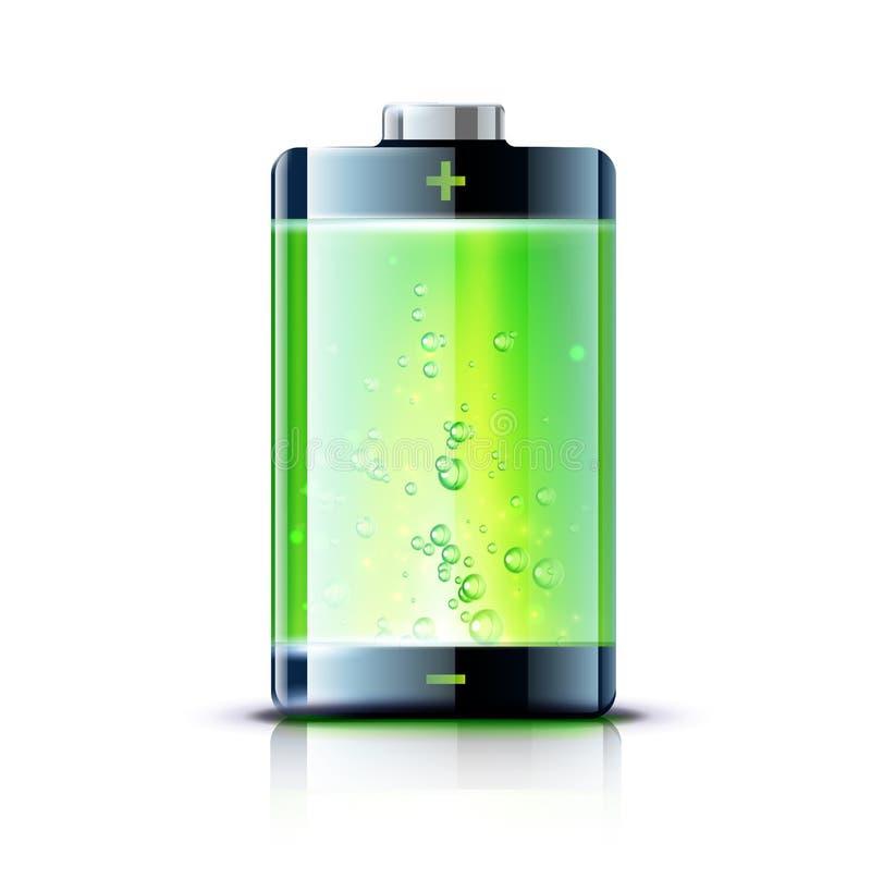 Battery level indicator vector illustration