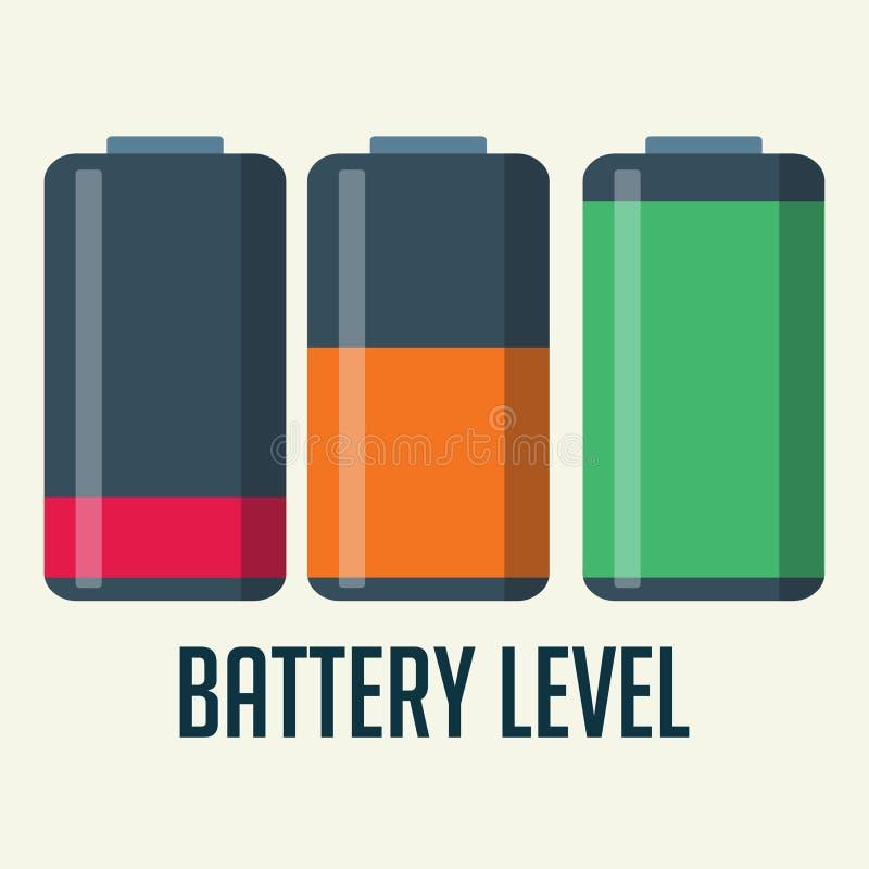 Battery level indicator vector illustration.  stock illustration