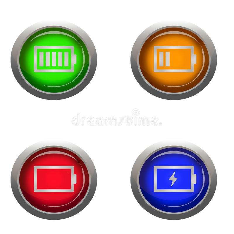 Battery Life Statuses Stock Illustration