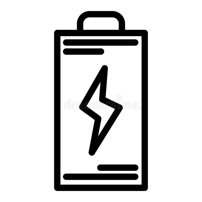 Battery line icon. Energy vector illustration isolated on white. Accumulator outline style design, designed for web and. App. Eps 10 vector illustration
