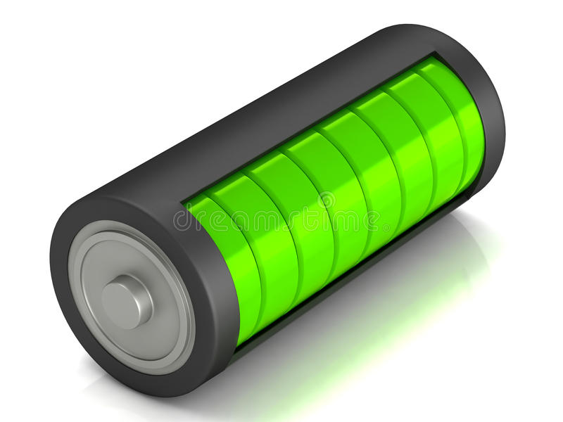 Battery load icon. On a white background royalty free illustration