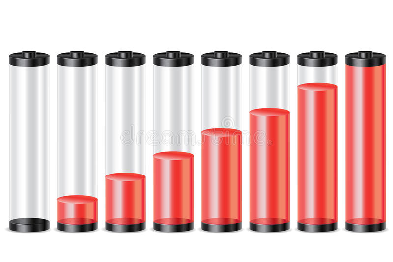 Download Battery meter stock illustration. Illustration of capacity - 16936923