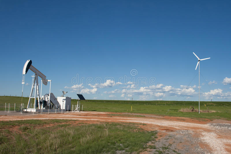Battery Operated Well Site stock photos