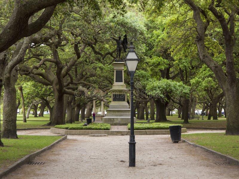 Battery Park in Charleston, South Carolina royalty free stock photo