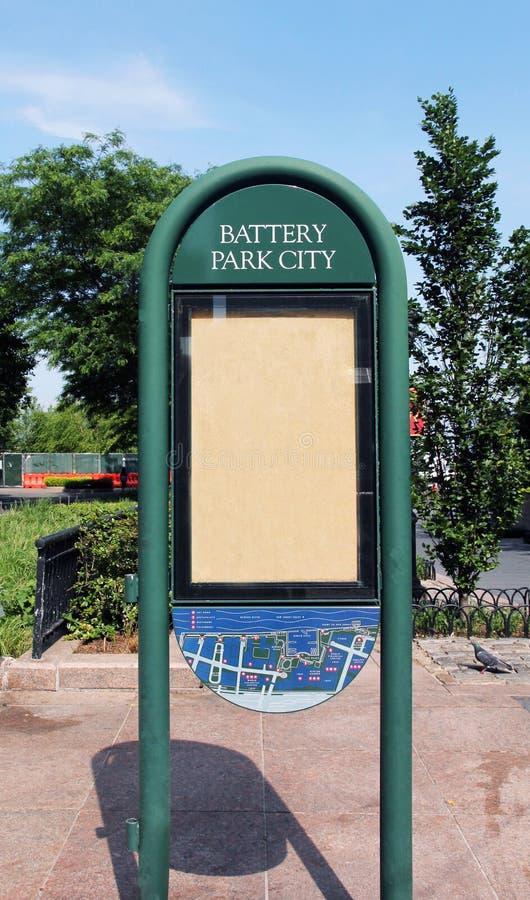Battery park sign