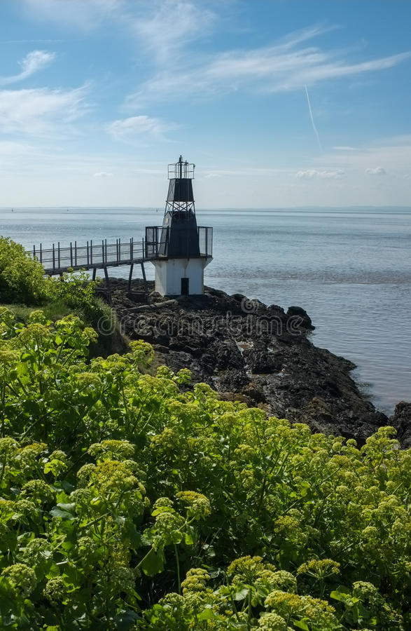 Battery Point Lighthouse, Portishead, England royalty free stock images