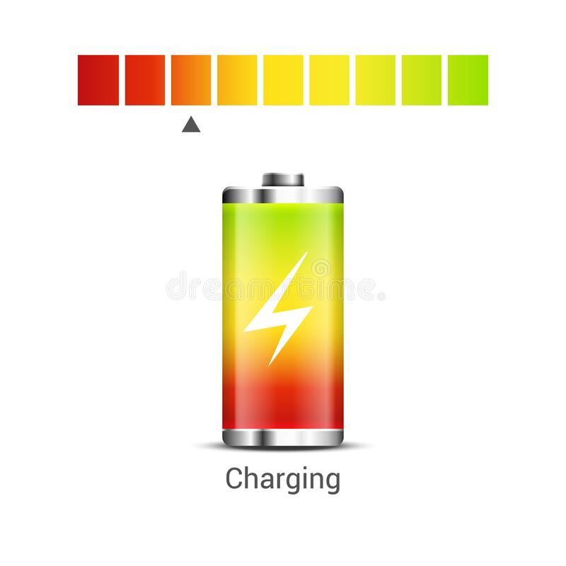 Free Battery Power Energy Icon. Battery Level Charge Vector Indicator Icon Royalty Free Stock Image - 171721786