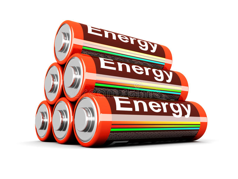Download Battery Pyramid Royalty Free Stock Photography - Image: 19199247