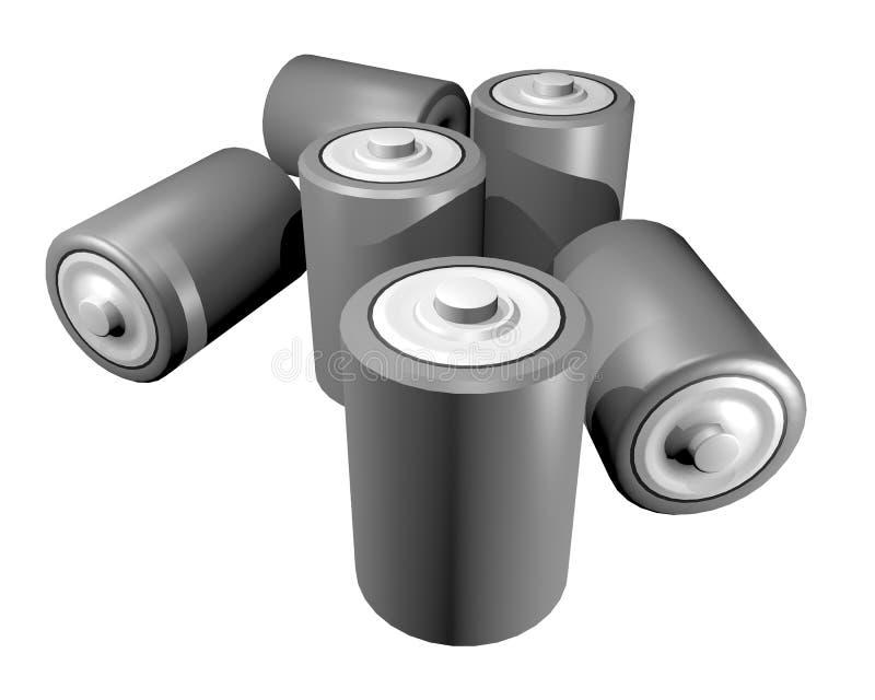 Battery render royalty free illustration