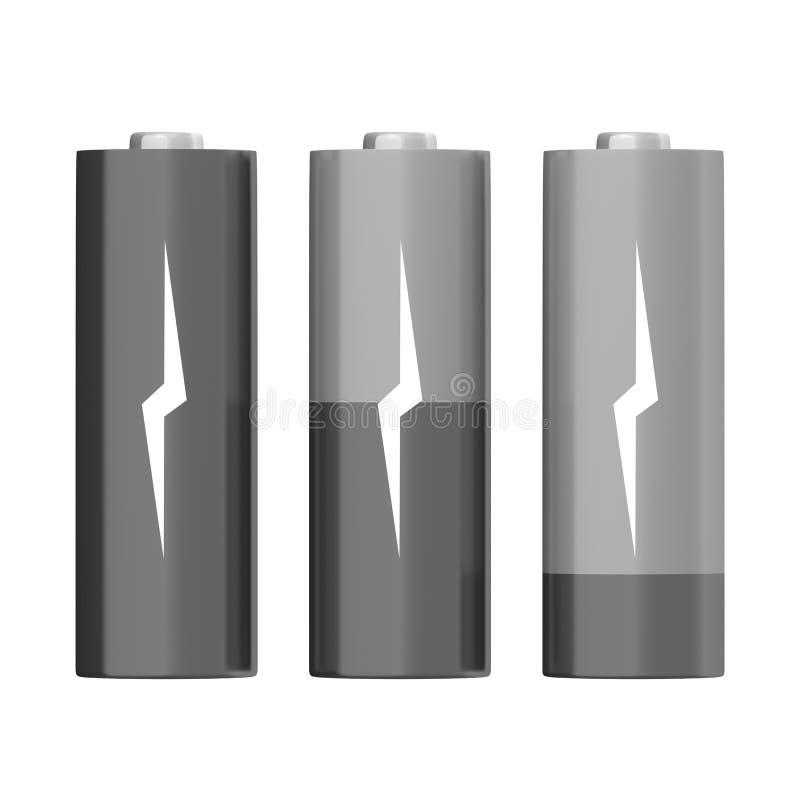 Battery symbols stock illustration
