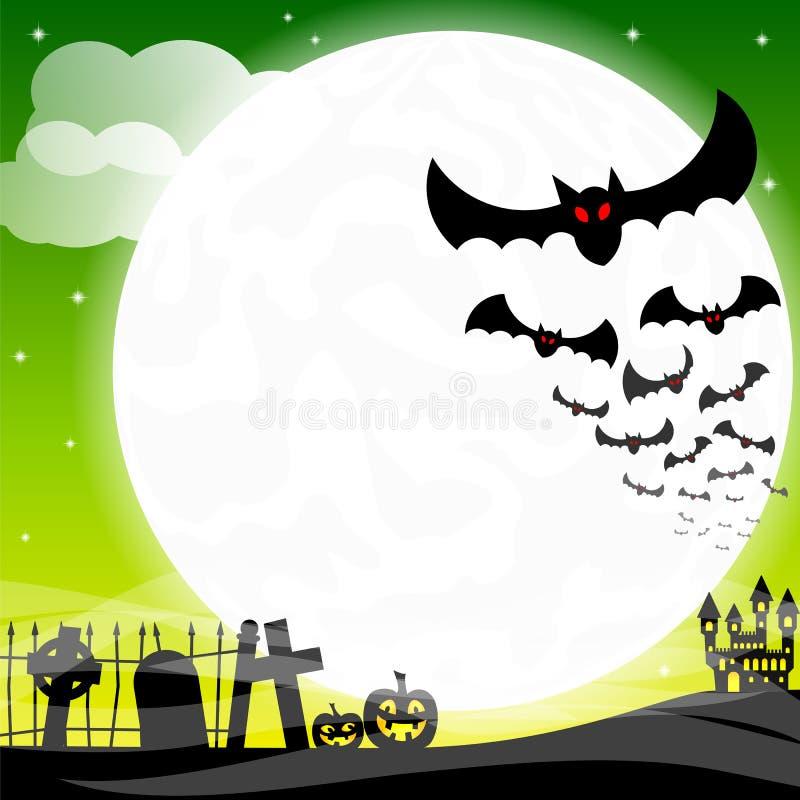 Battes contre la pleine lune illustration libre de droits
