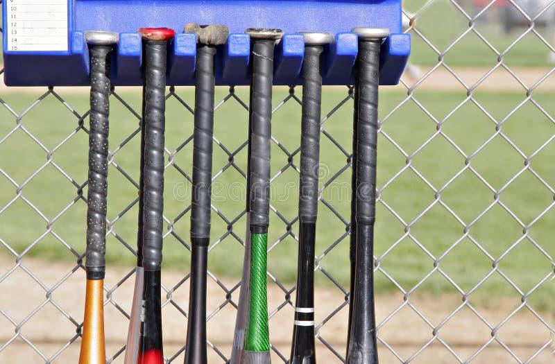Battes de baseball image libre de droits