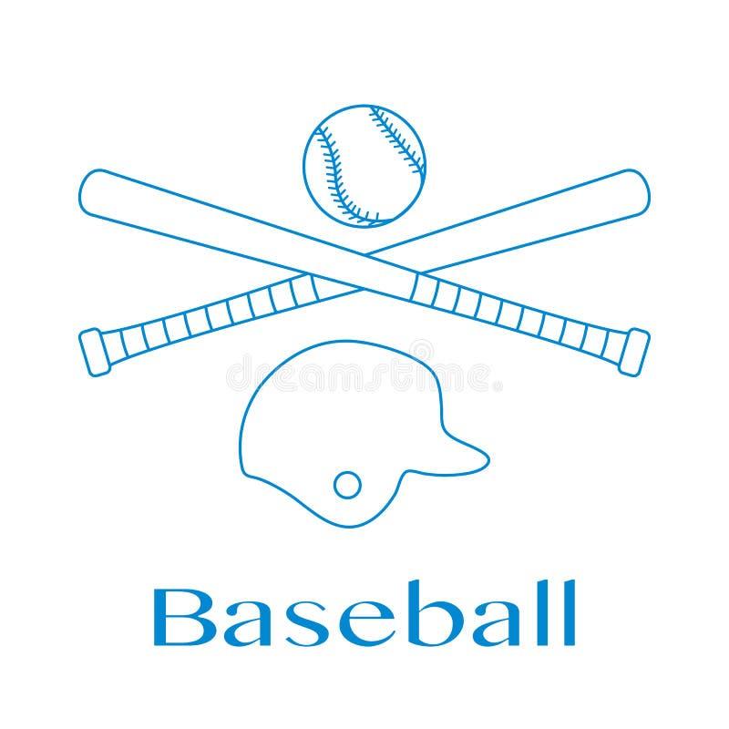 Battes de baseball, boule, casque Illustration de vecteur illustration de vecteur