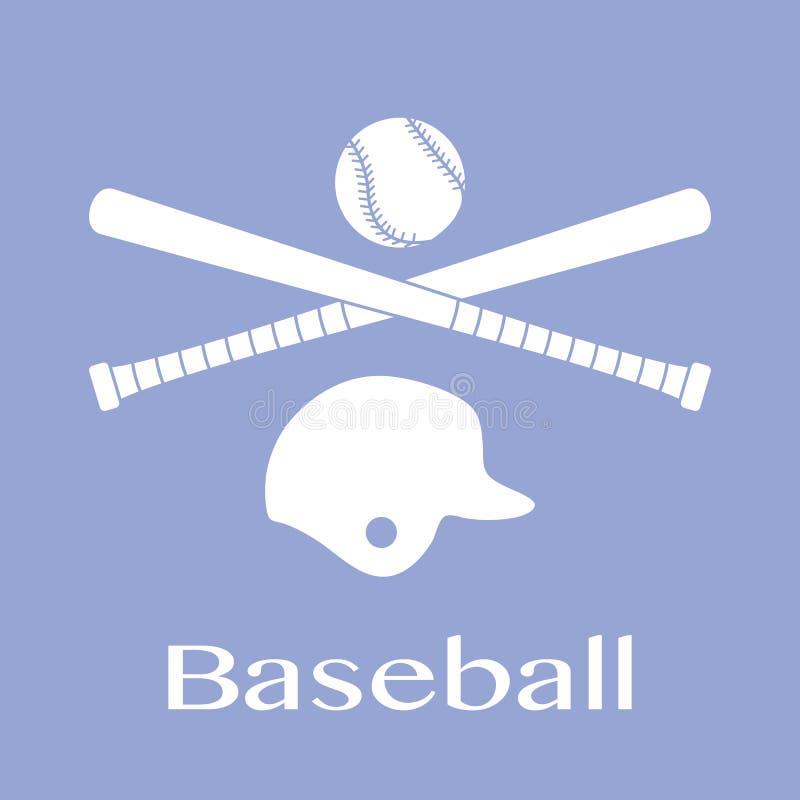 Battes de baseball, boule, casque Illustration de vecteur illustration stock