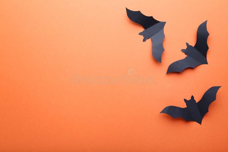 Battes de papier de Halloween photos libres de droits