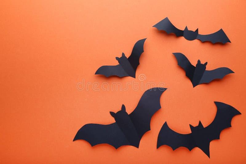 Battes de papier de Halloween photos stock