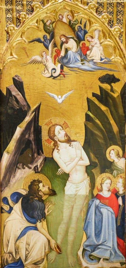 Battesimo di Gesù da St John il battista fotografie stock libere da diritti