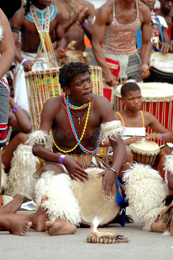 Batteur africain photographie stock