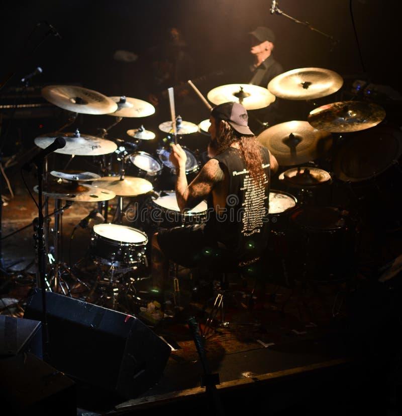 Batteur célèbre - Mike Portnoy photo stock