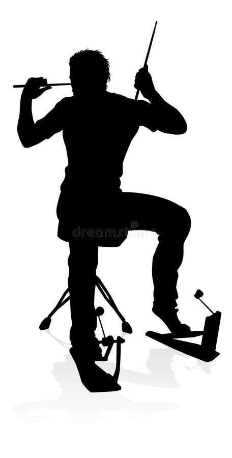 Batteur Silhouette de musicien illustration libre de droits