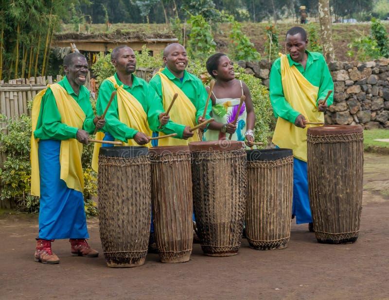 Batteurs du Rwanda images libres de droits