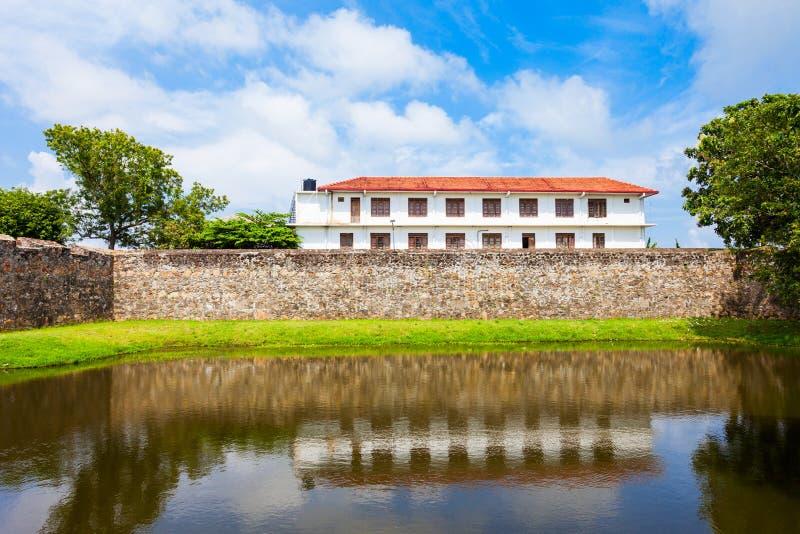 Batticaloa Fort, Sri Lanka. The Batticaloa Fort is the old portuguese fort in the center of Batticaloa city, Sri Lanka stock photography