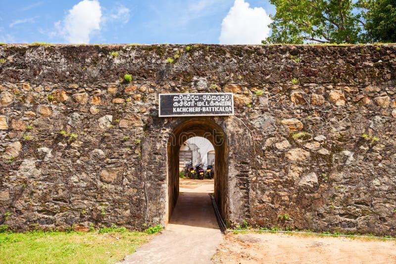 Batticaloa Fort, Sri Lanka. The Batticaloa Fort is the old portuguese fort in the center of Batticaloa city, Sri Lanka royalty free stock photo