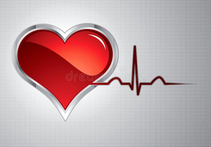 Battimenti di cuore illustrazione vettoriale