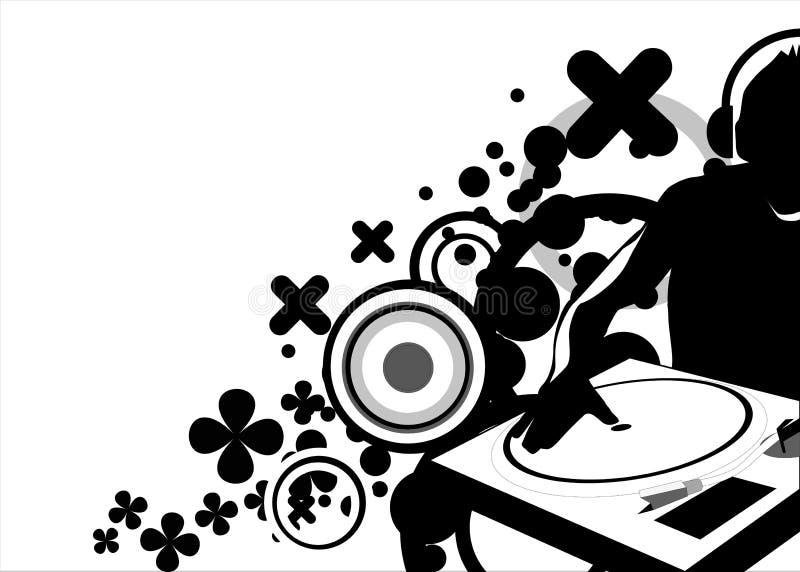 Battimenti mescolantesi del DJ illustrazione di stock