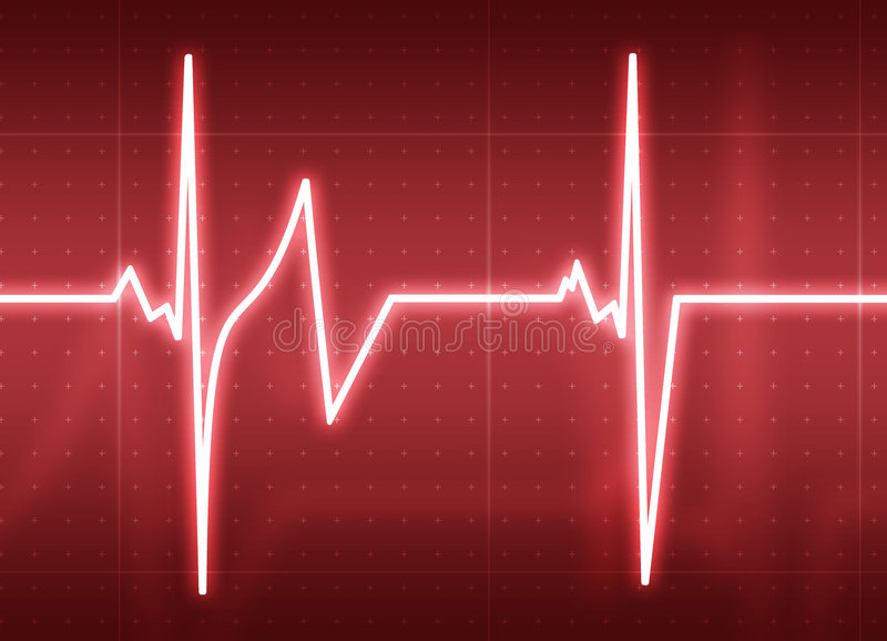 Battimento di cuore illustrazione di stock