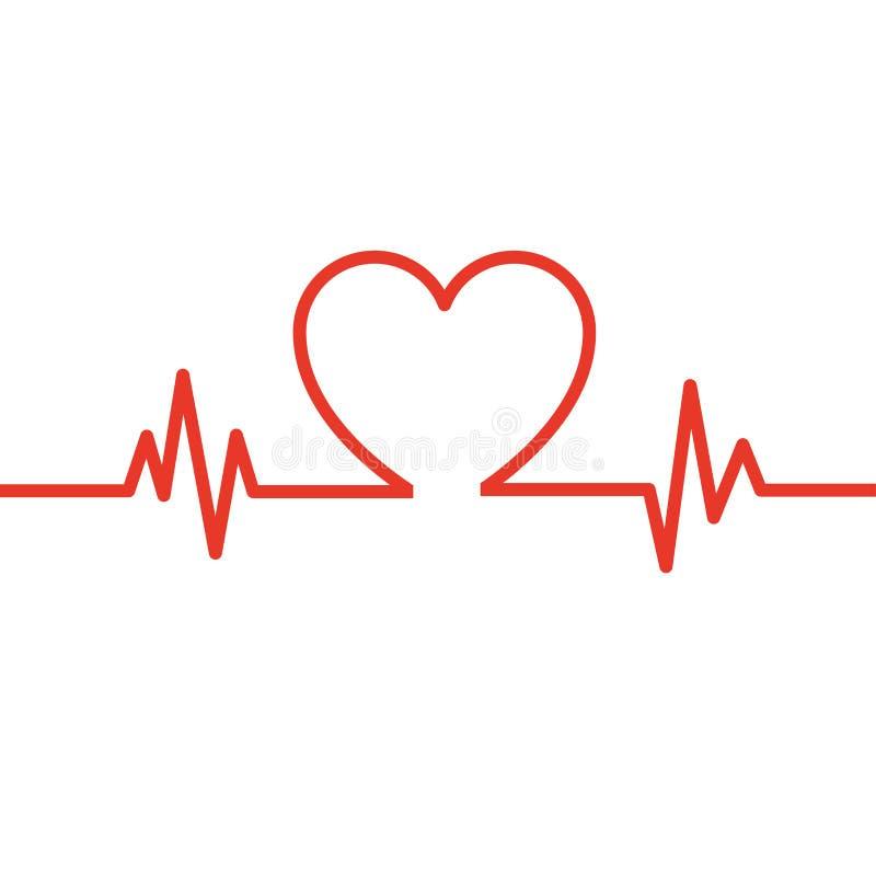 Battimento di cuore cardiogram Ciclo cardiaco Icona medica illustrazione vettoriale