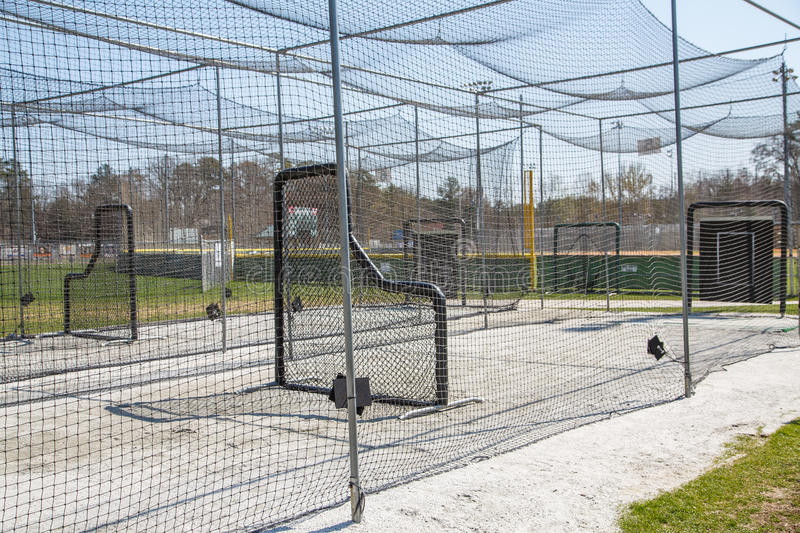 Batting Cages in Park stock image