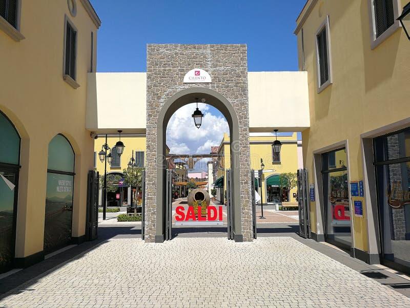 Battipaglia - venda de partida na vila da tomada de Cilento fotografia de stock royalty free