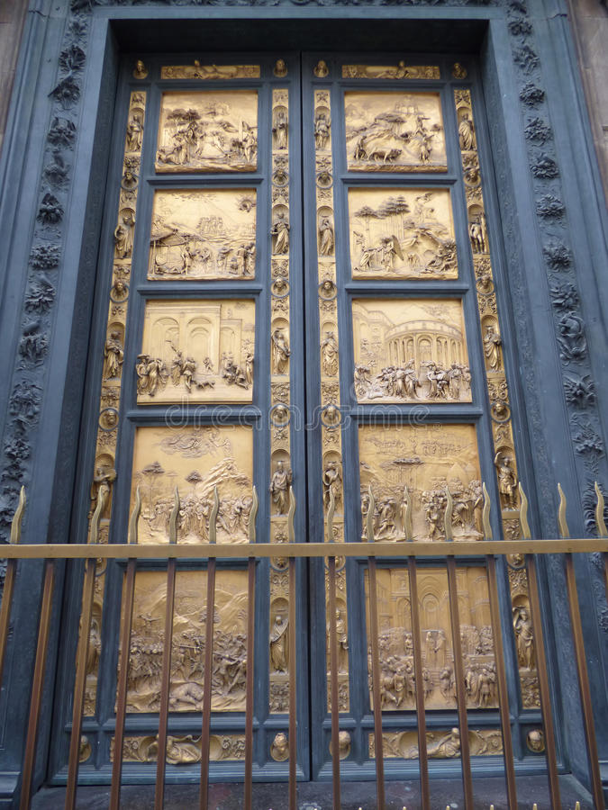 Battistero. Di San Giovanni door in Florence, Italy stock photography