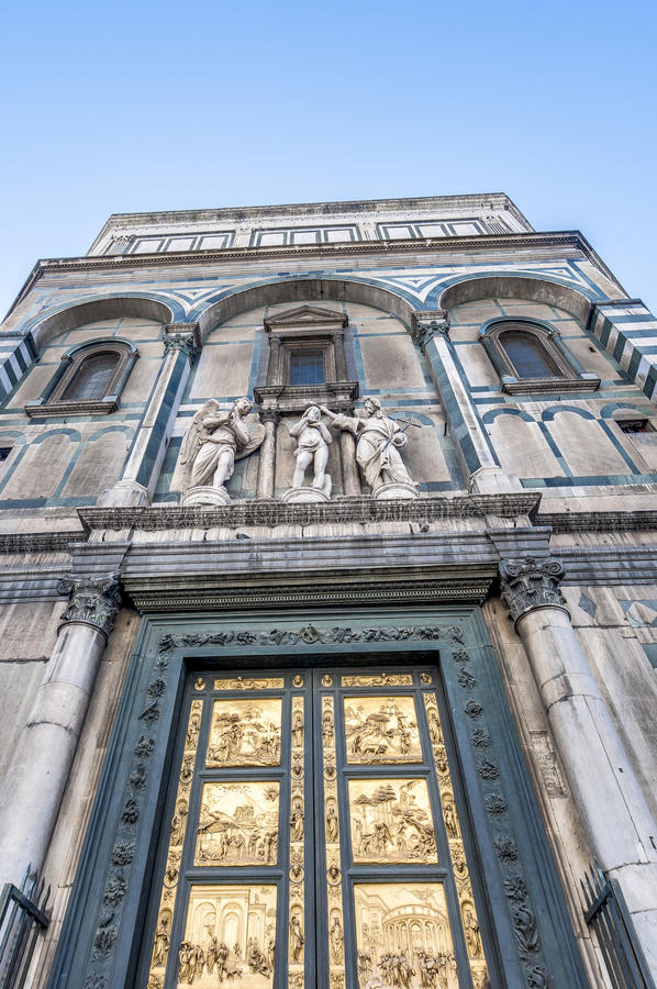 The Battistero di San Giovanni in Florence, Italy. The Battistero di San Giovanni (Baptistry of Saint John) located in Florence, Italy royalty free stock images