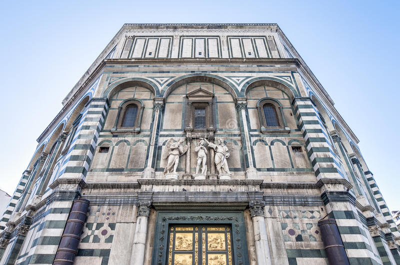 The Battistero di San Giovanni in Florence, Italy. The Battistero di San Giovanni (Baptistry of Saint John) located in Florence, Italy royalty free stock image