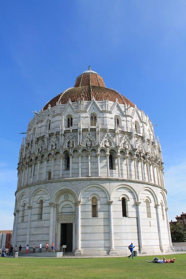 Battistero-Di San Giovanni, Pisa stockfotos
