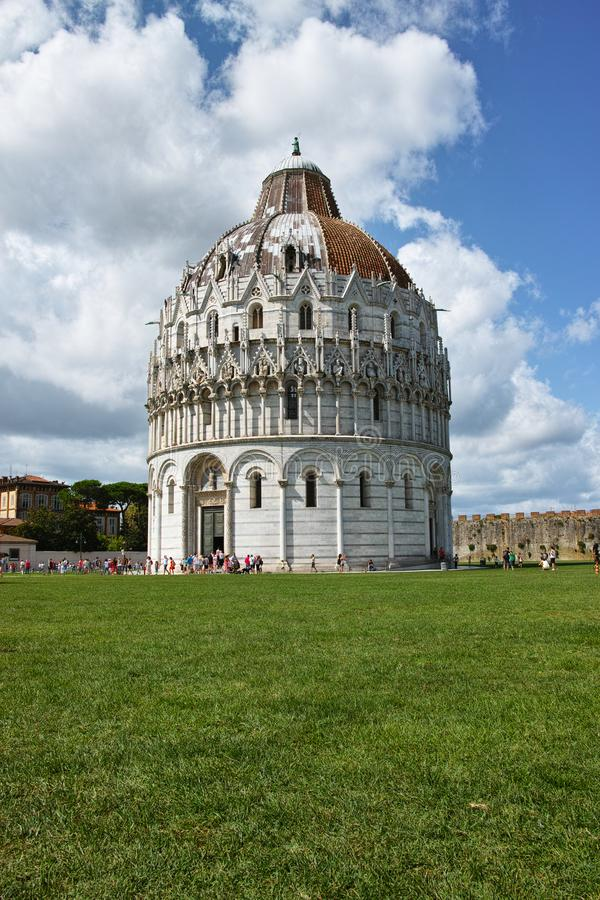 Battistero. The Battistero at Piazza dei Miracoli in Italy stock photography