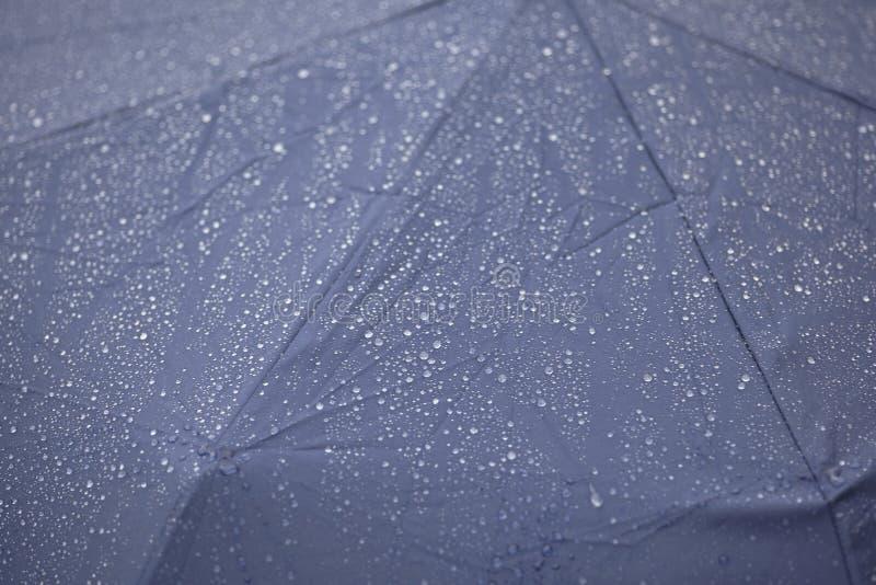 Battiti della pioggia sull'ombrello immagini stock libere da diritti