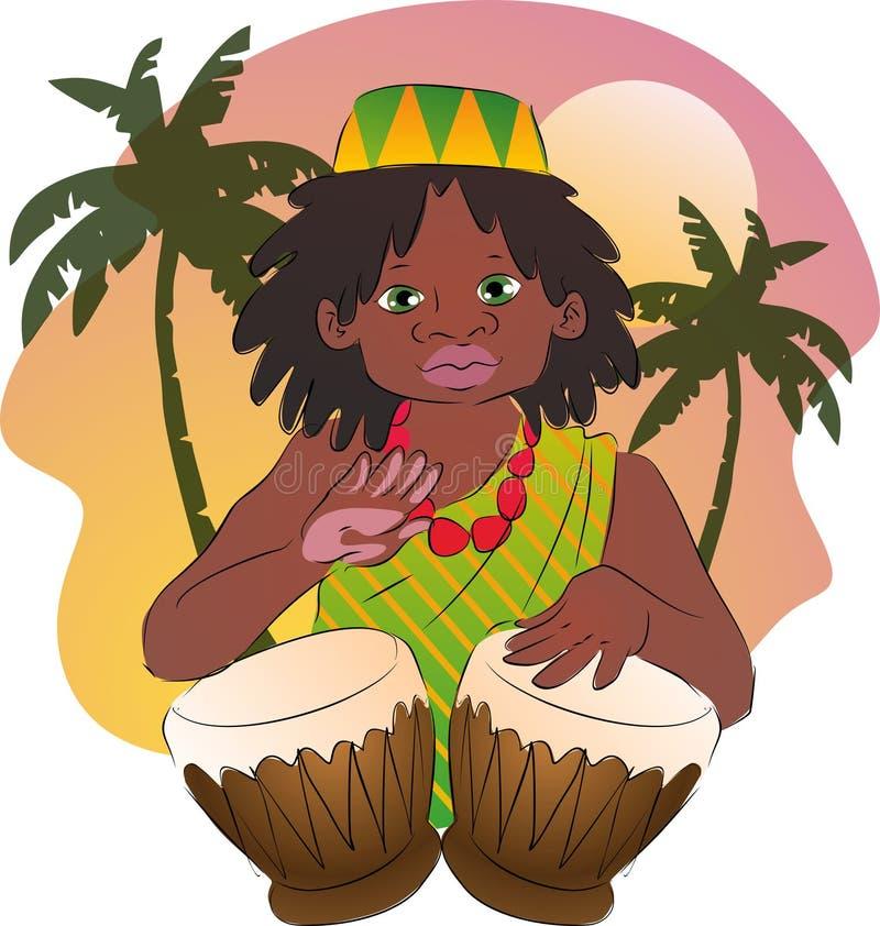 Battiti di afro royalty illustrazione gratis