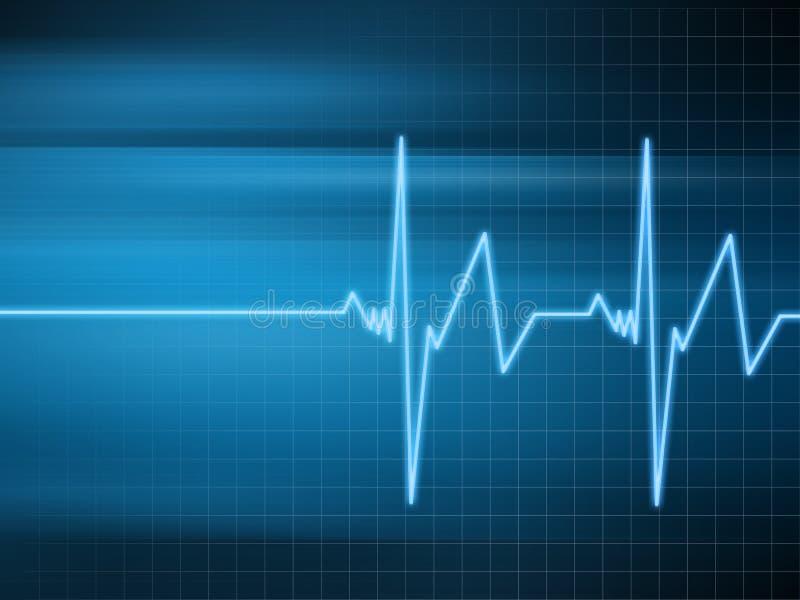 Battito cardiaco illustrazione di stock