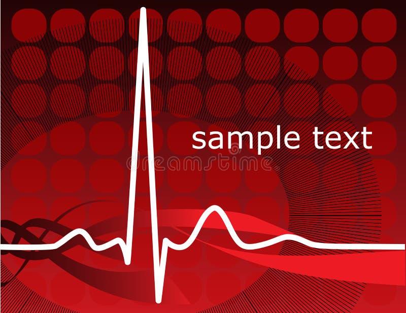 Battito cardiaco, ekg illustrazione vettoriale