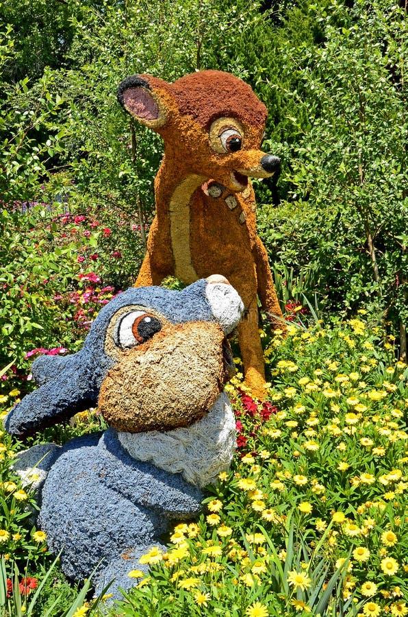 Battitore & Bambi Topiary fotografia stock libera da diritti